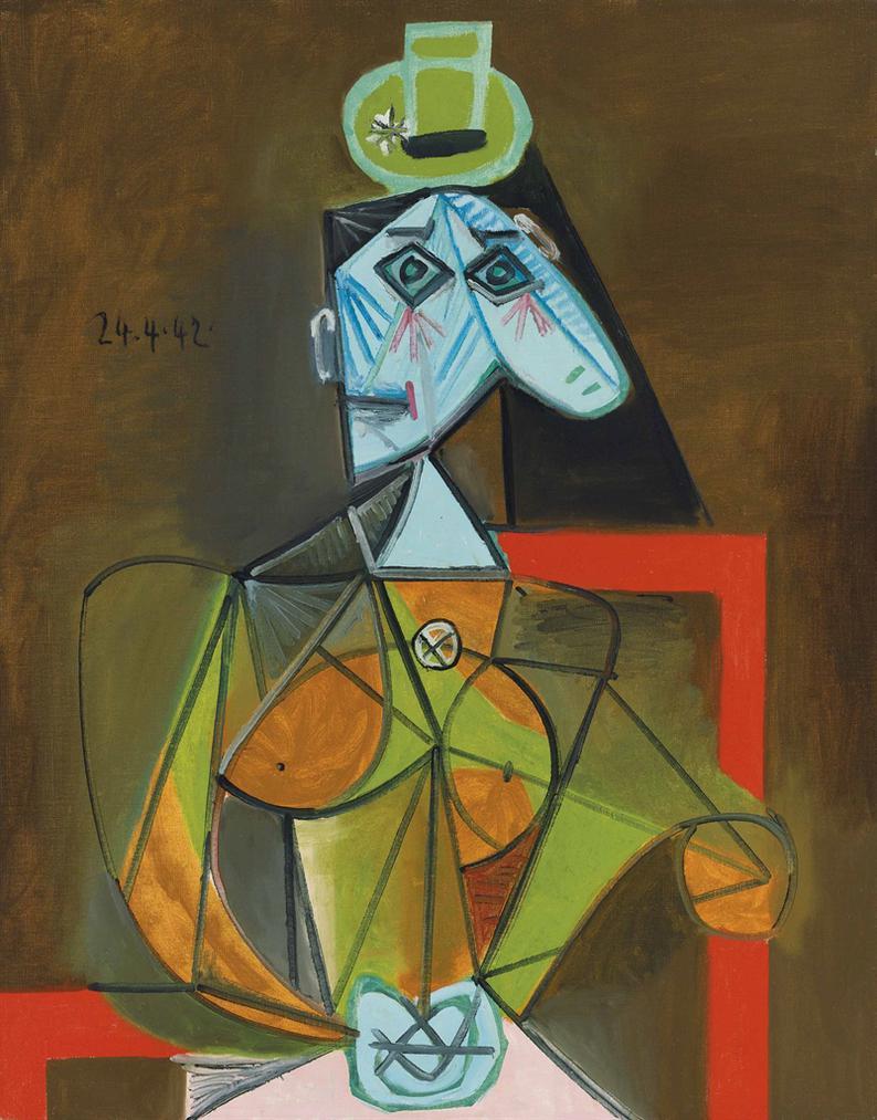 Pablo Picasso-Femme Dans Un Fauteuil (Dora Maar)-1942