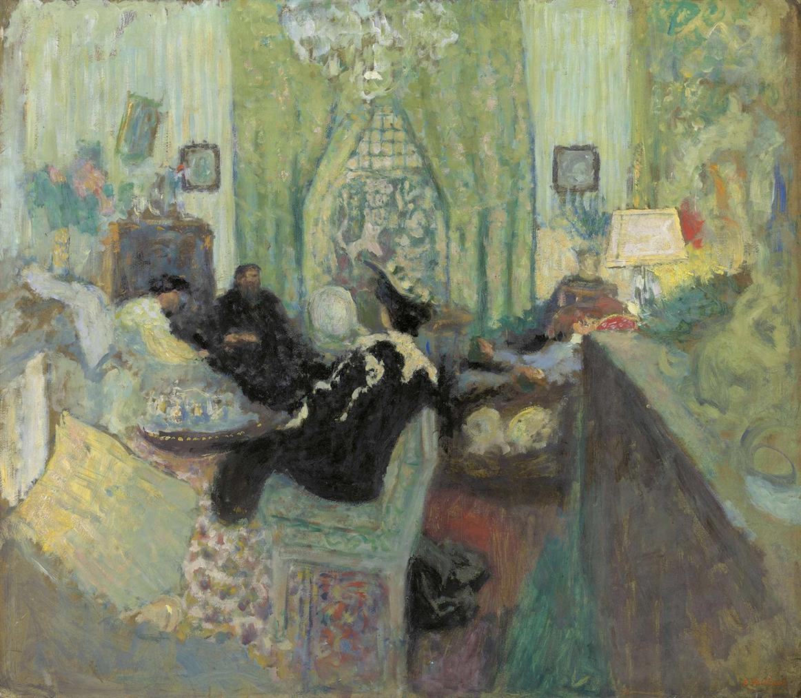 Edouard Vuillard-Le Salon Vert Chez Madame Aron (Version I)-1912