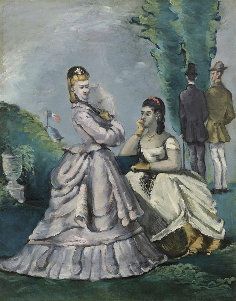Paul Cezanne-La Conversation-1871