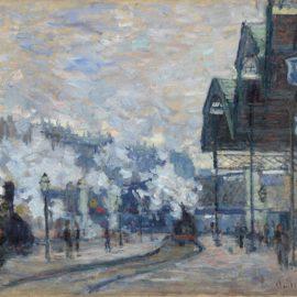 Claude Monet-La Gare Saint-Lazare, Vue Exterieure-1877