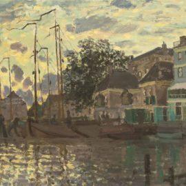 Claude Monet-Le Dam A Zaandam, Le Soir-1871