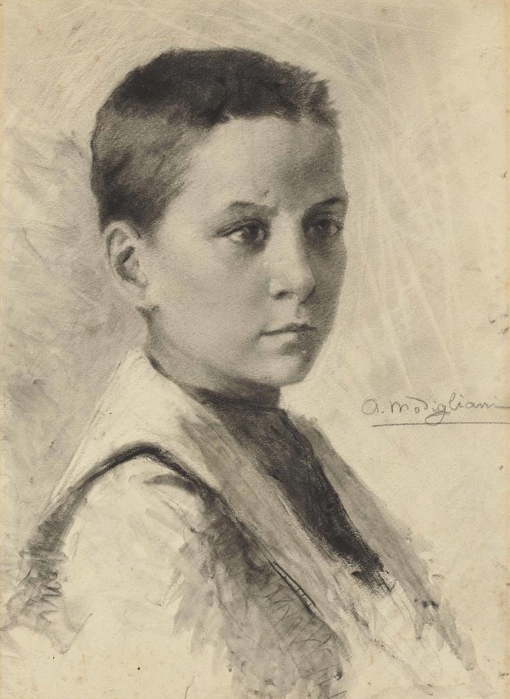Amedeo Modigliani-Autoportrait-1899