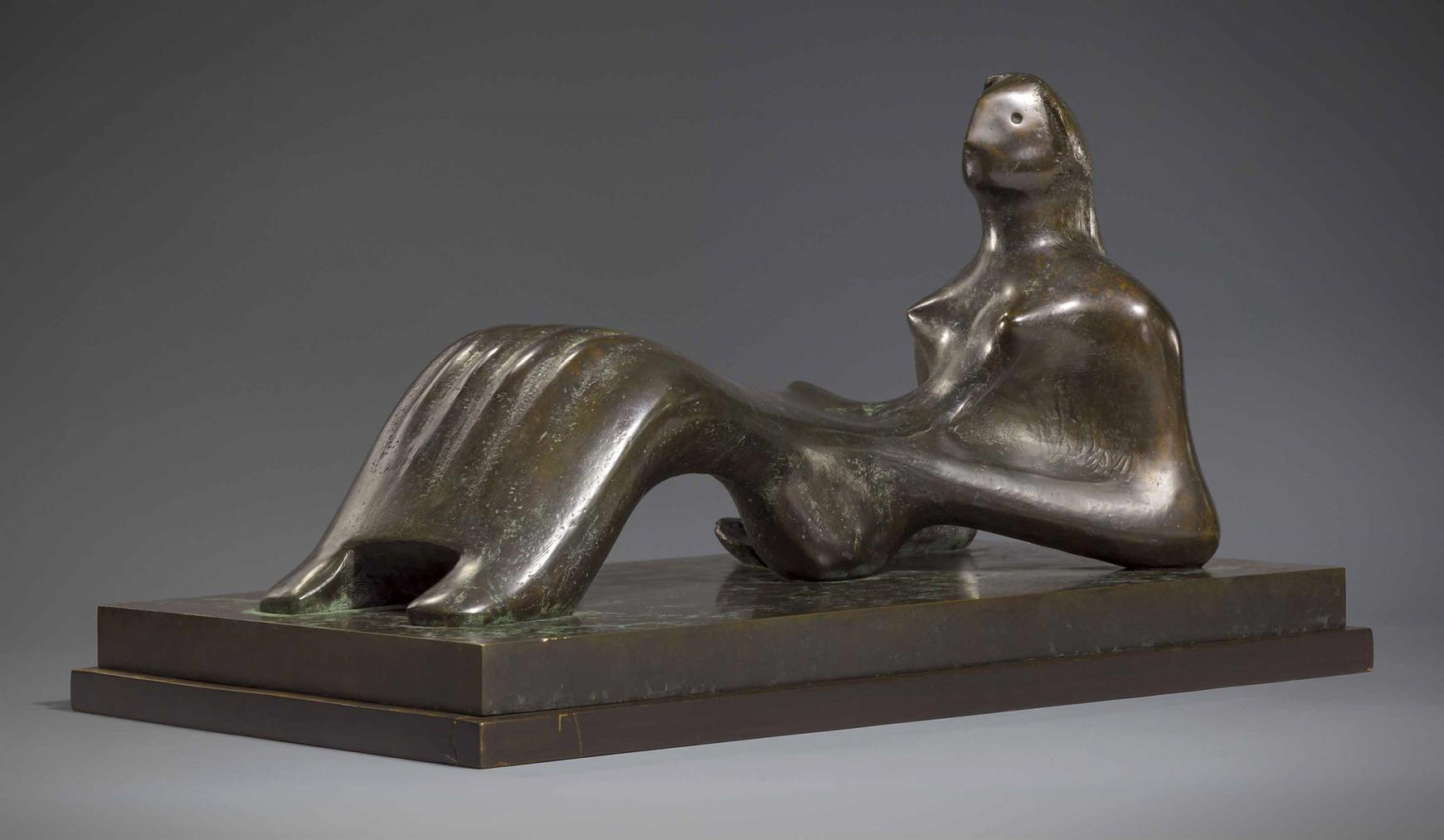 Henry Moore-Working Model For Reclining Figure: Bone Skirt-1979