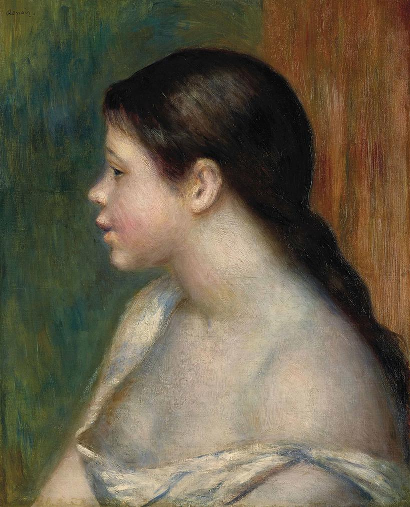 Pierre-Auguste Renoir-Tete De Jeune Fille-1882