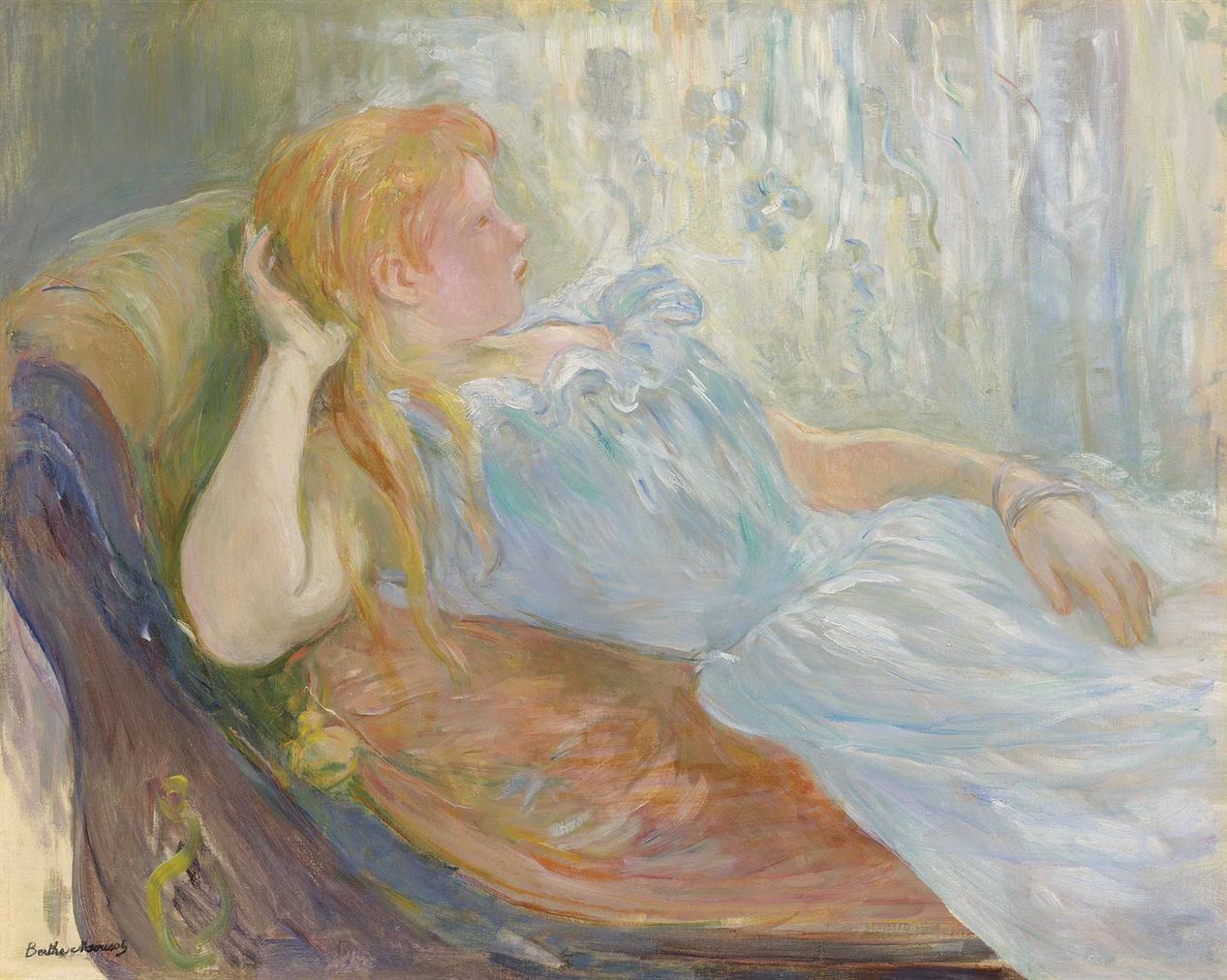 Berthe Morisot-Jeune Fille Etendue-1893