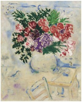 Marc Chagall-La Chaise A Toulon Or Les Fleurs Du Mourillon-1926