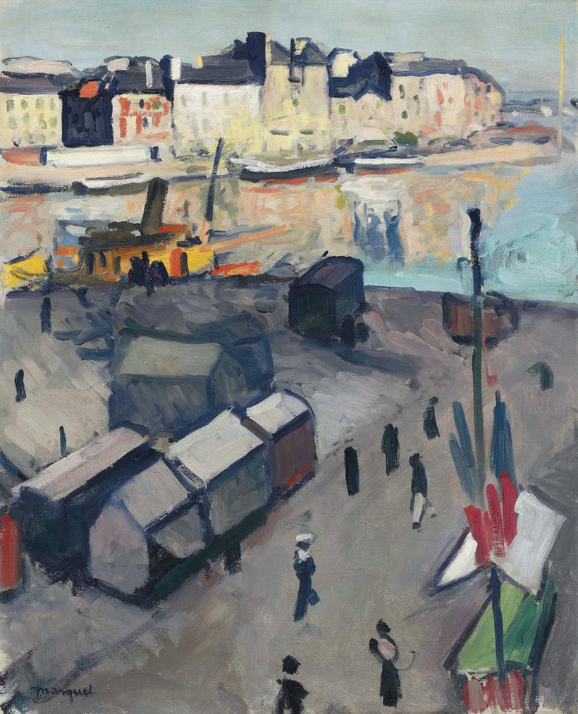 Albert Marquet-Le Havre, Le Bassin-1906