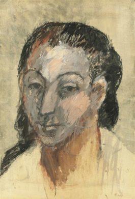Pablo Picasso-Tete De Femme-1906