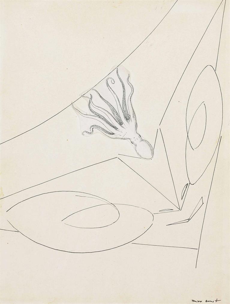 Max Ernst-Illustration For Le Brebis Galante-1949