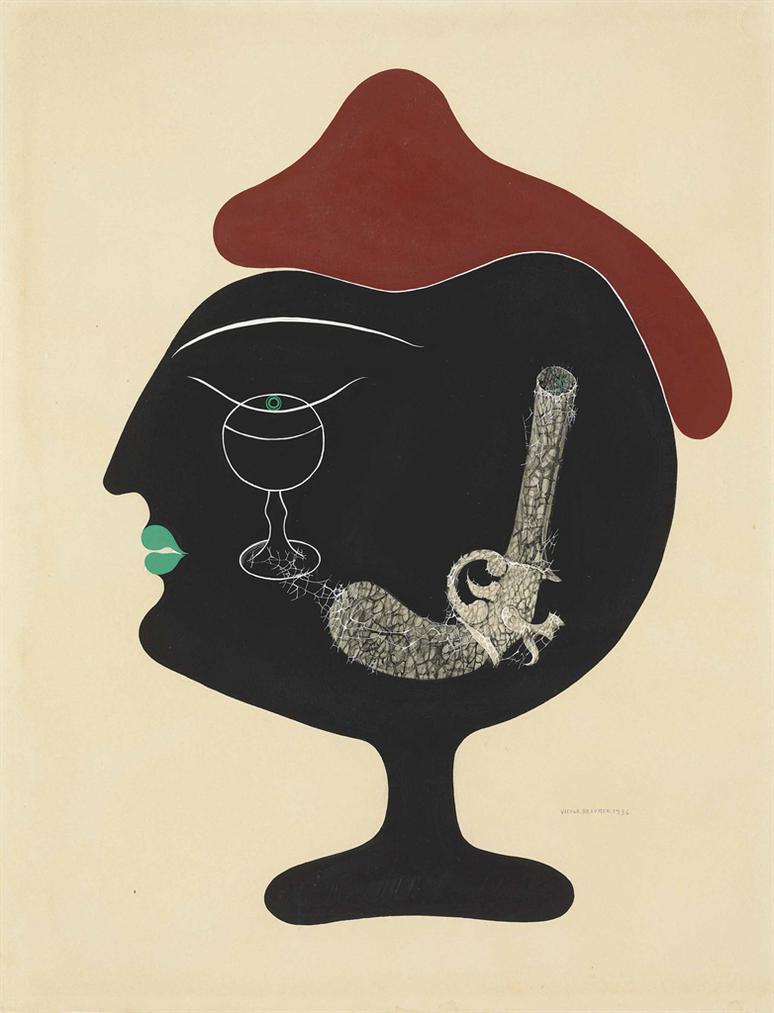 Victor Brauner-Rire Du Fleuve Et Mon Mystere-1936