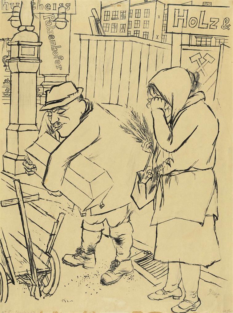 George Grosz-Begrabnis Iii. Klasse - Ein Engelchen Mehr, Ein Rekrut Weniger (Third Class Funeral - One Little Angel More, One Recruit Less)-1928