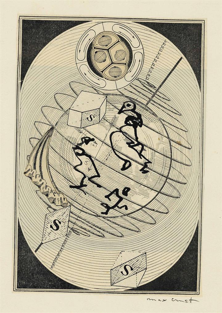 Max Ernst-Logique Sans Peine (Wunderhorn, Frontispiz)-1966