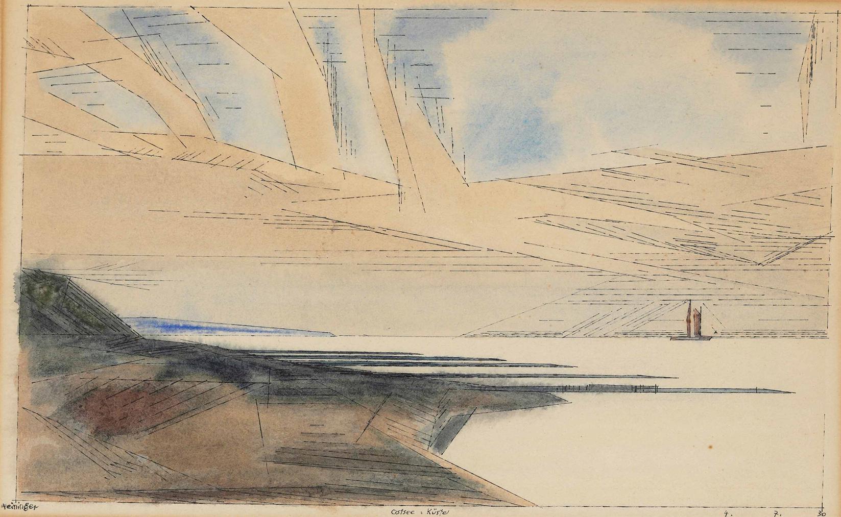 Lyonel Feininger-Ostsee-Kuste-1930