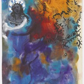 Salvador Dali-Figure Au Turban Et Femme Ailee-1966