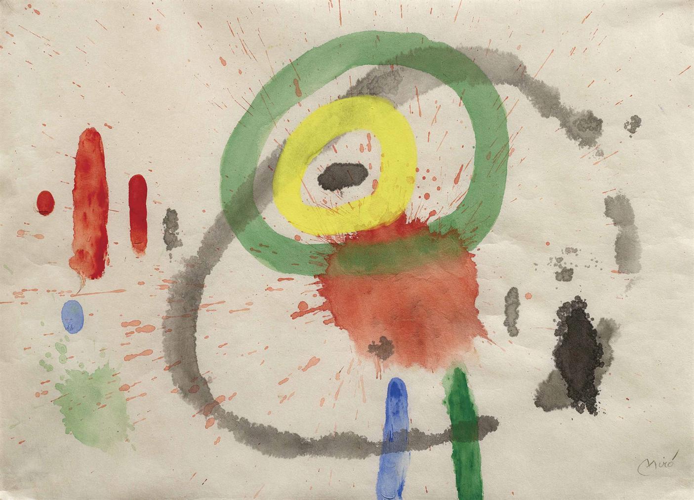 Joan Miro-Sans Titre VI-1967