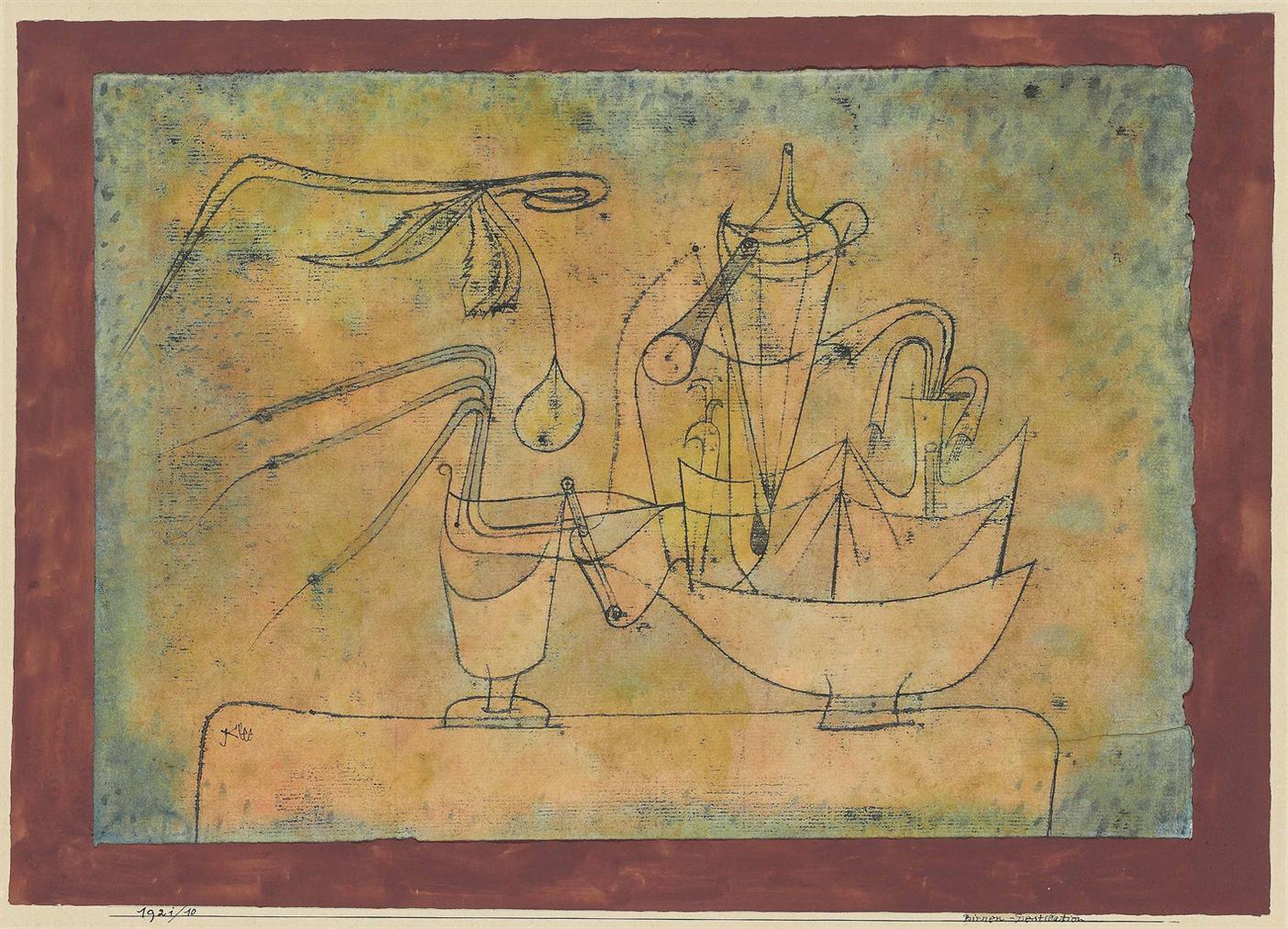 Paul Klee-Birnen-Destillation (Distillation Of Pears)-1921
