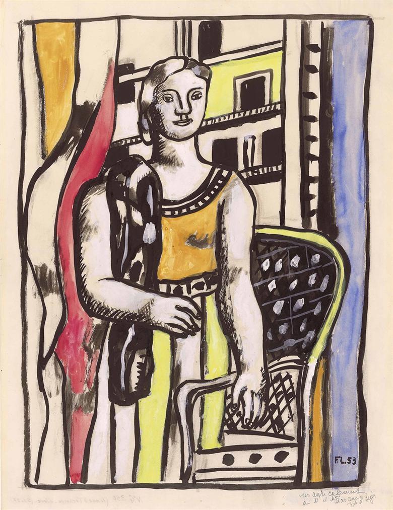 Fernand Leger-Femme A Lecharpe-1953