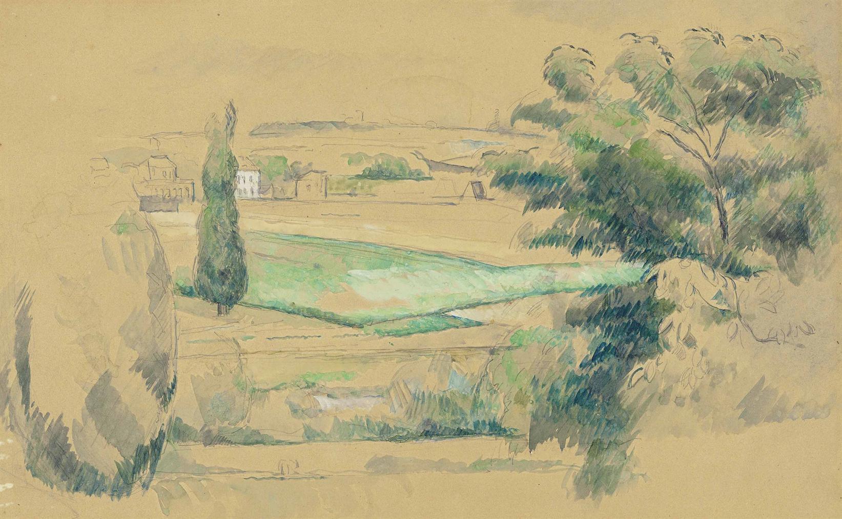 Paul Cezanne-Paysage (Environs De Melun?)-1880