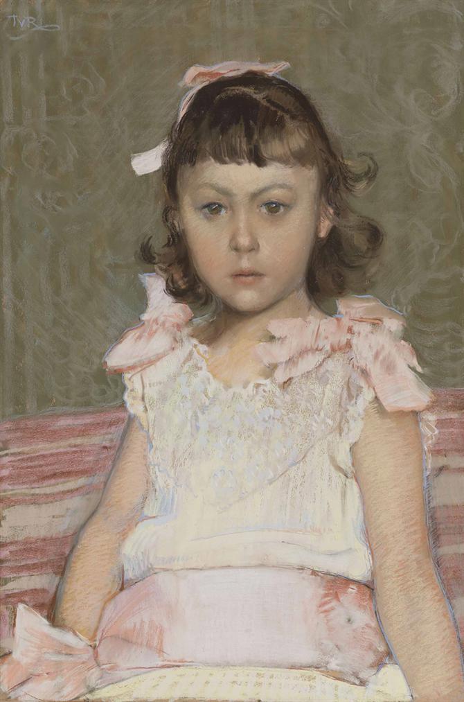 Theo van Rysselberghe-Portrait De Fillette-