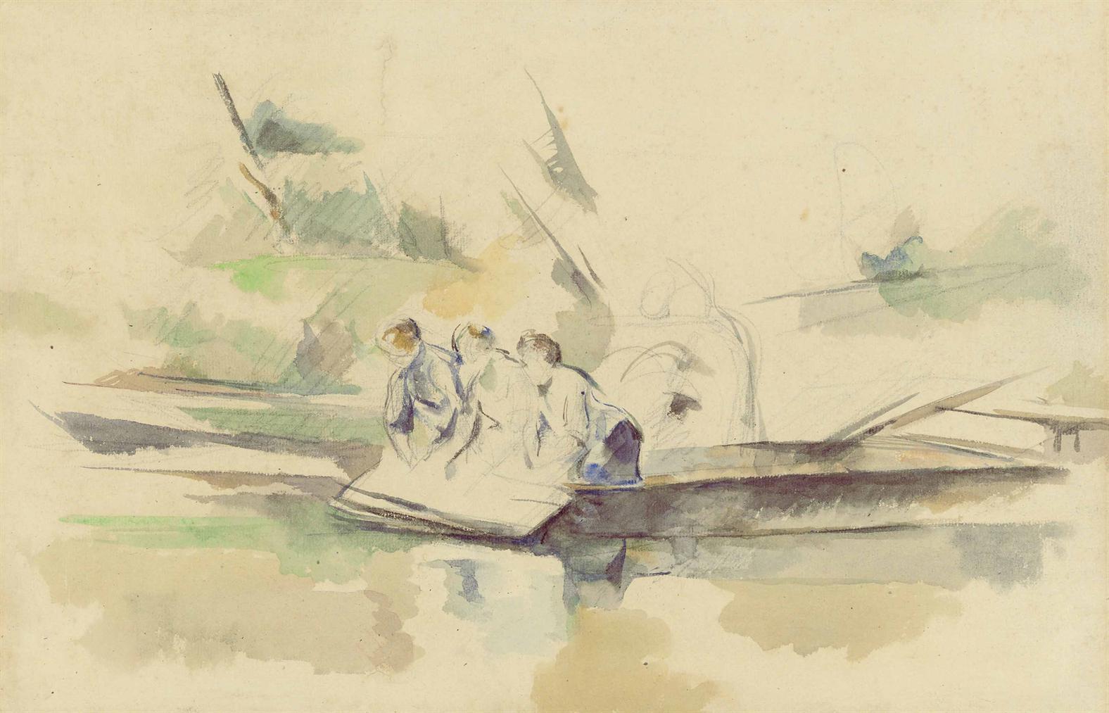Paul Cezanne-Laveuses-1880