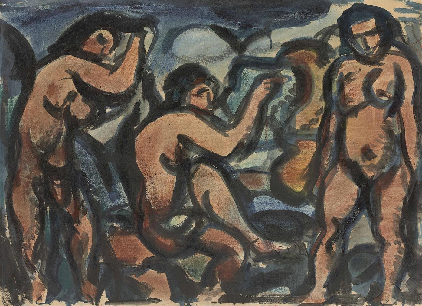 Georges Rouault-Femmes Nues, Composition-1911
