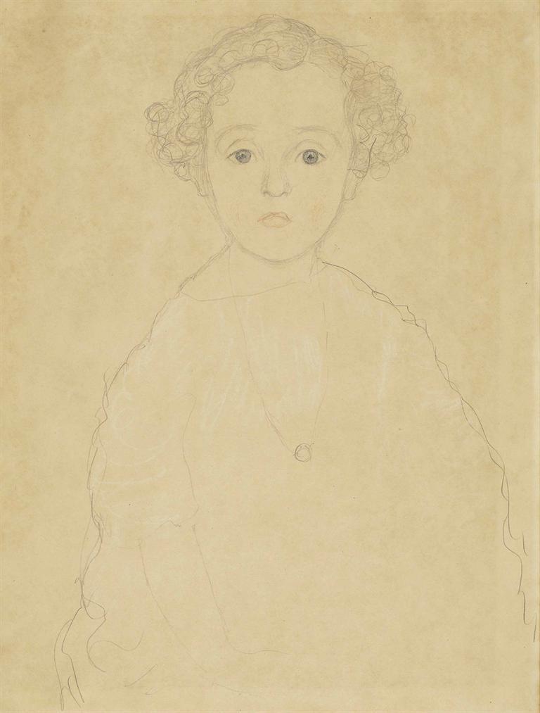 Gustav Klimt-Knabenbildnis Von Vorne (George Von Halban-Kurz)-1917