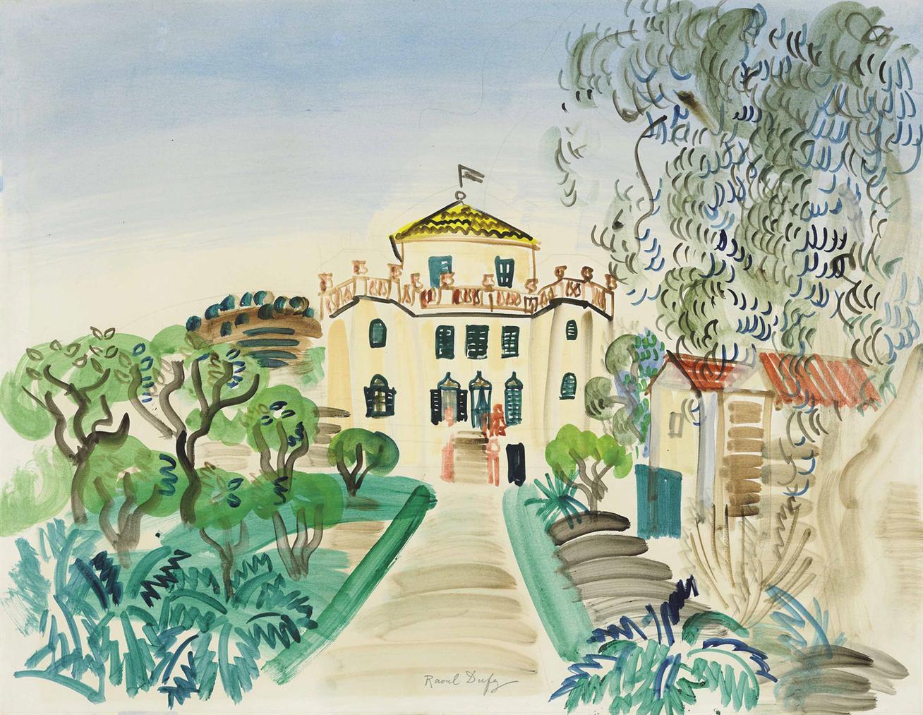 Raoul Dufy-Maison A Golfe-Juan-1923