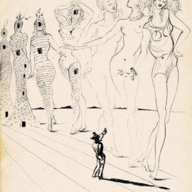 Salvador Dali-Iron Butterflies-1947