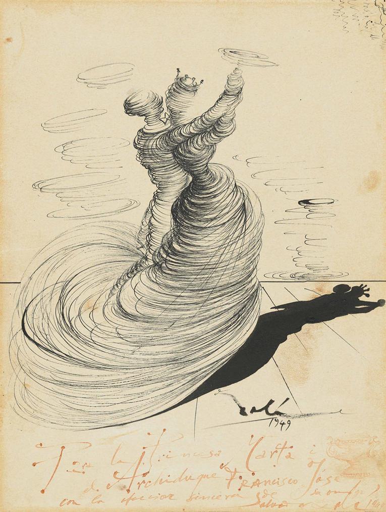 Salvador Dali-Deux Danseurs-1949