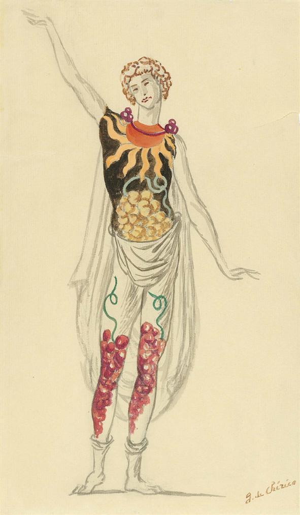 Giorgio de Chirico-Costume Per Dioniso-1931