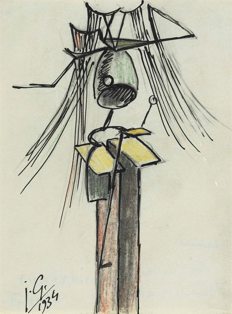 Julio Gonzalez-Femme Dite Linsecte Crissant-1934