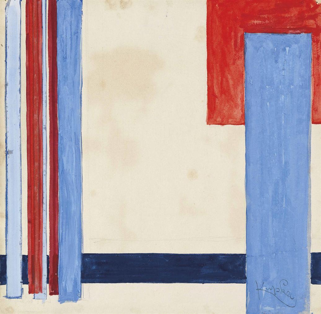 Frantisek Kupka-Plan Bleu Dans Le Rouge-1932