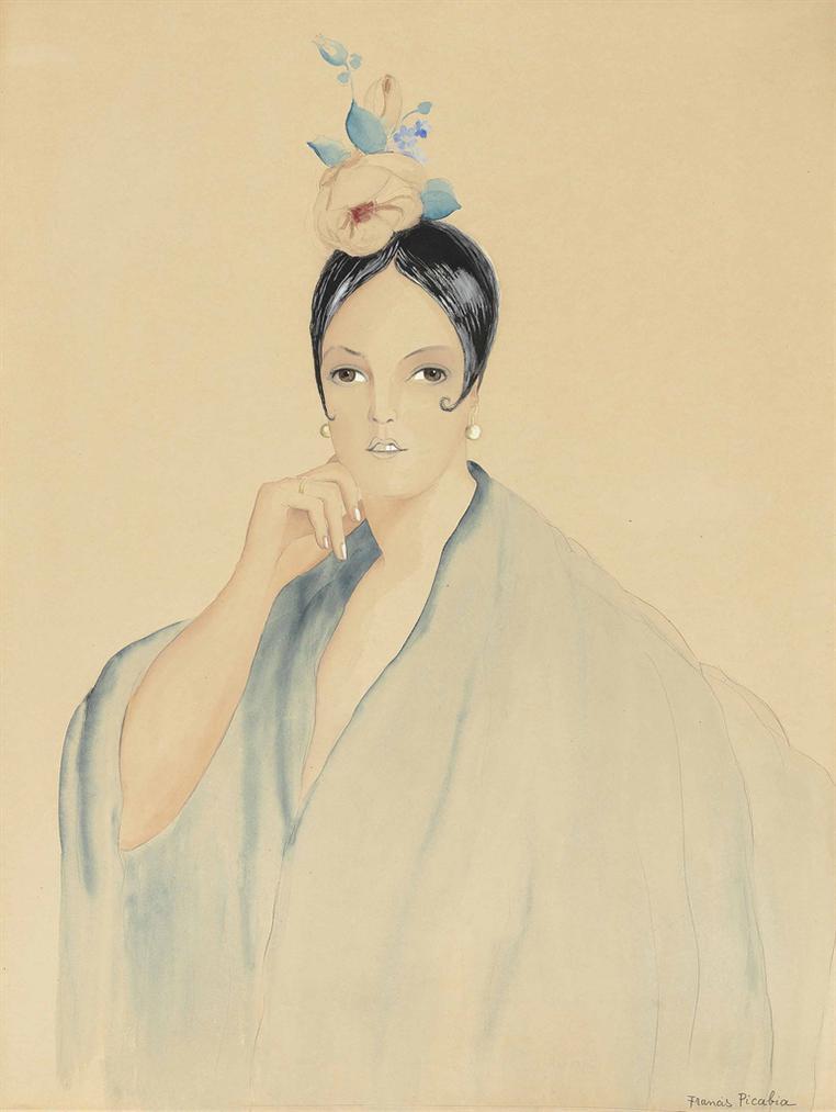 Francis Picabia-Lespagnole A La Rose-