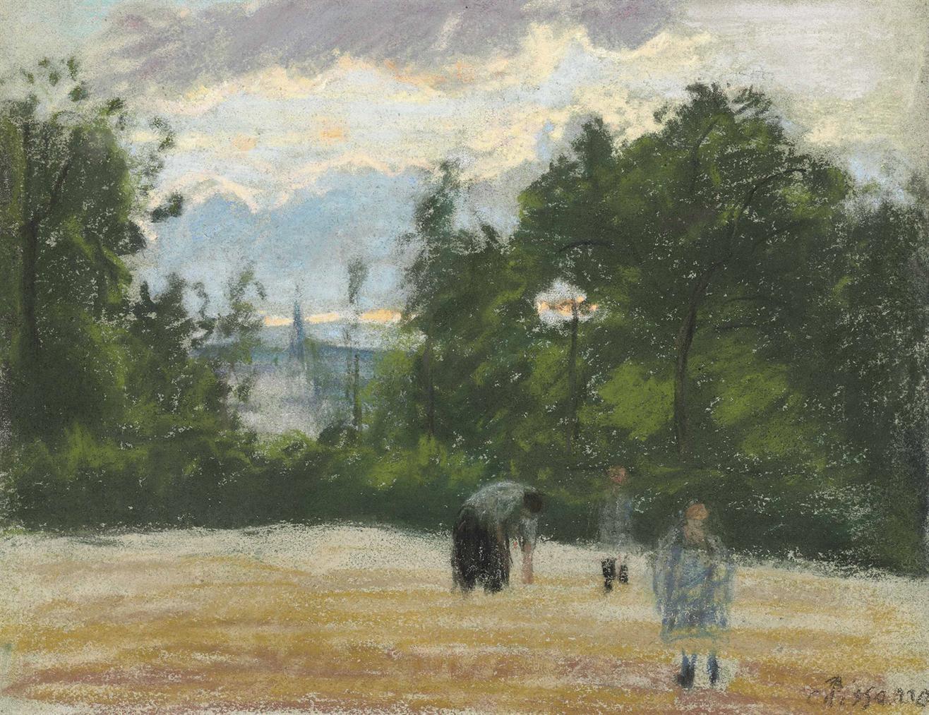 Camille Pissarro-La Clairiere-1875