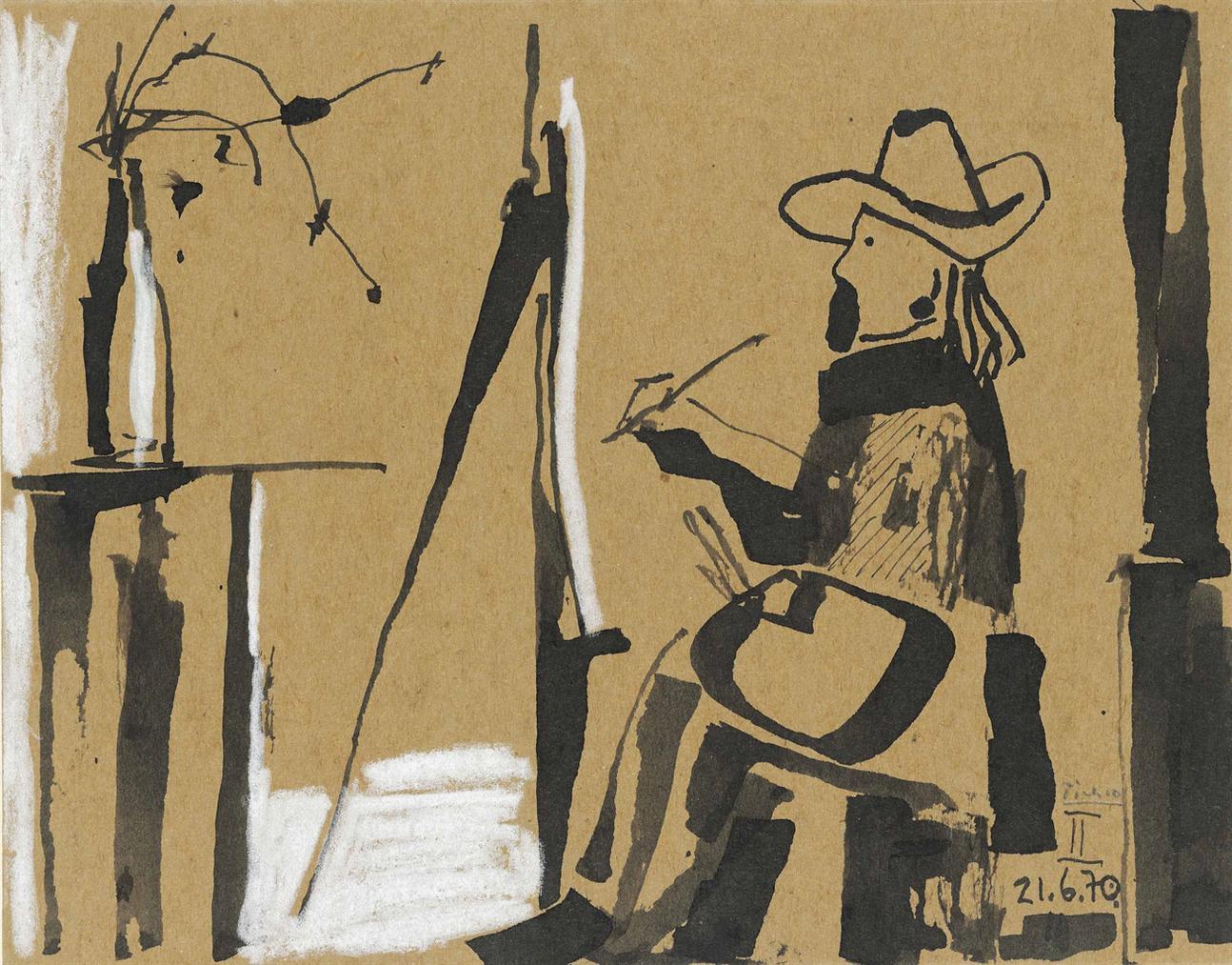 Pablo Picasso-Le Peintre-1970
