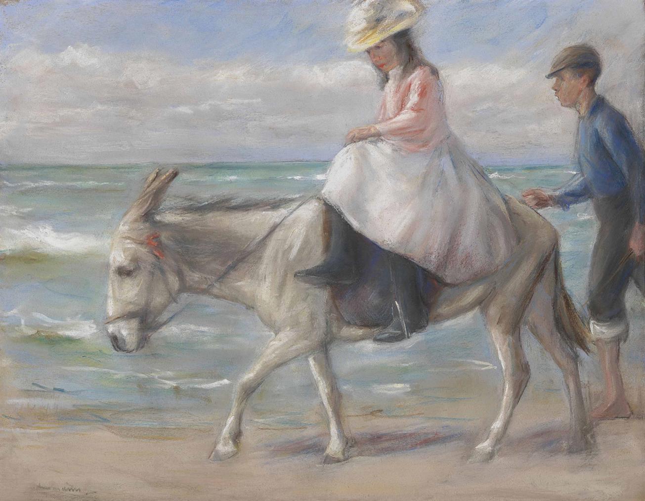 Max Liebermann-Kind, Auf Einem Esel Reitend-1901