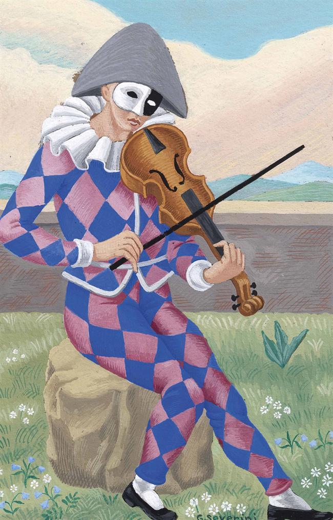Gino Severini-Pierrot Napolitain-1923