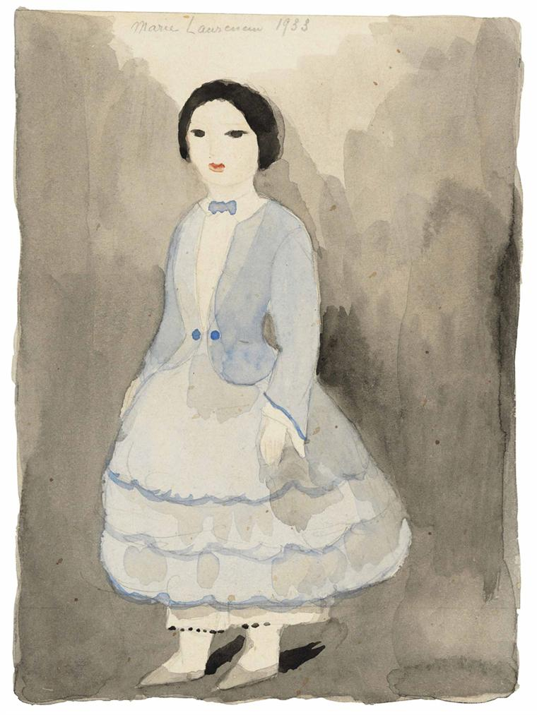 Marie Laurencin-Portrait Dune Fille-1933