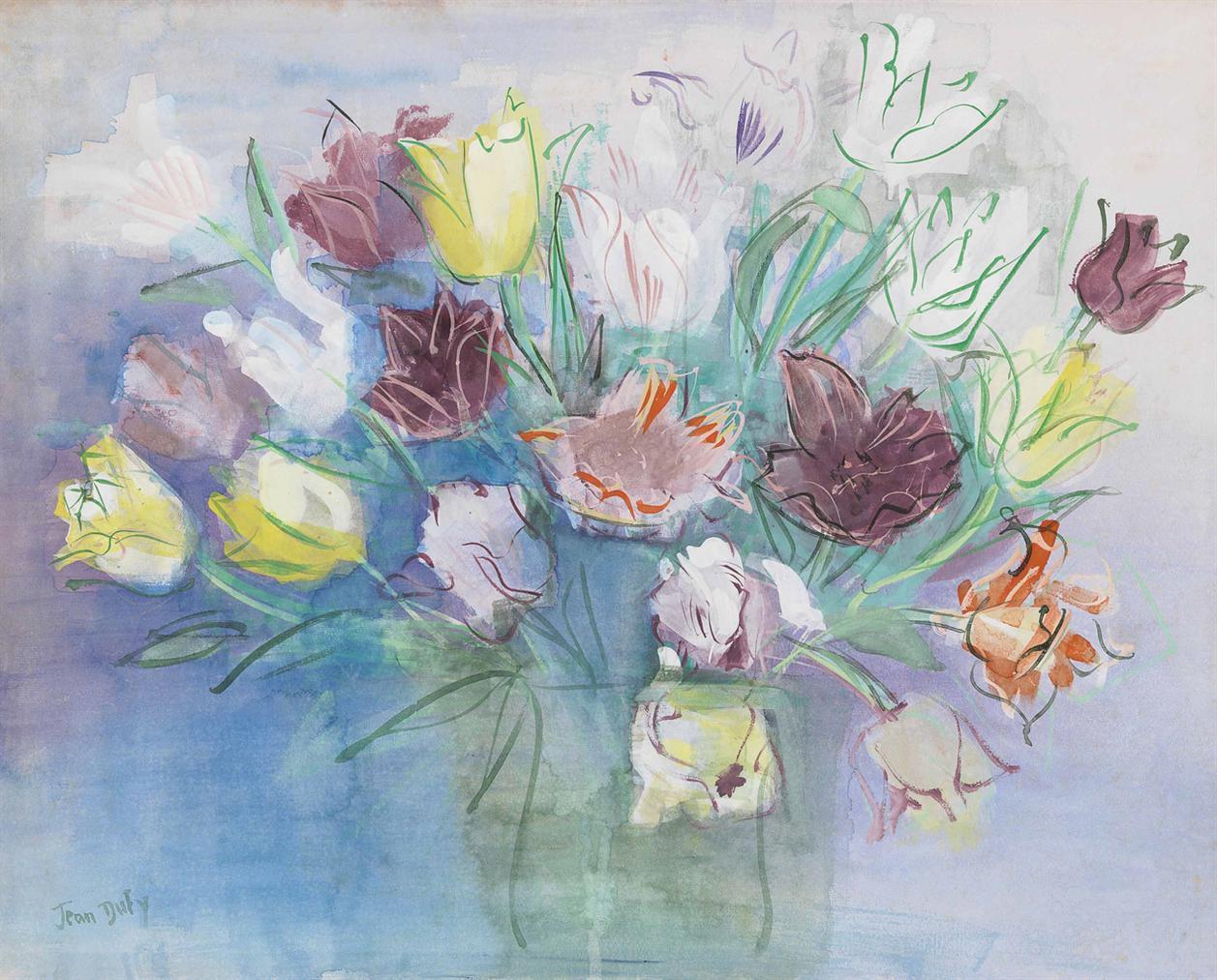 Jean Dufy-Bouquet De Tulipes-1935