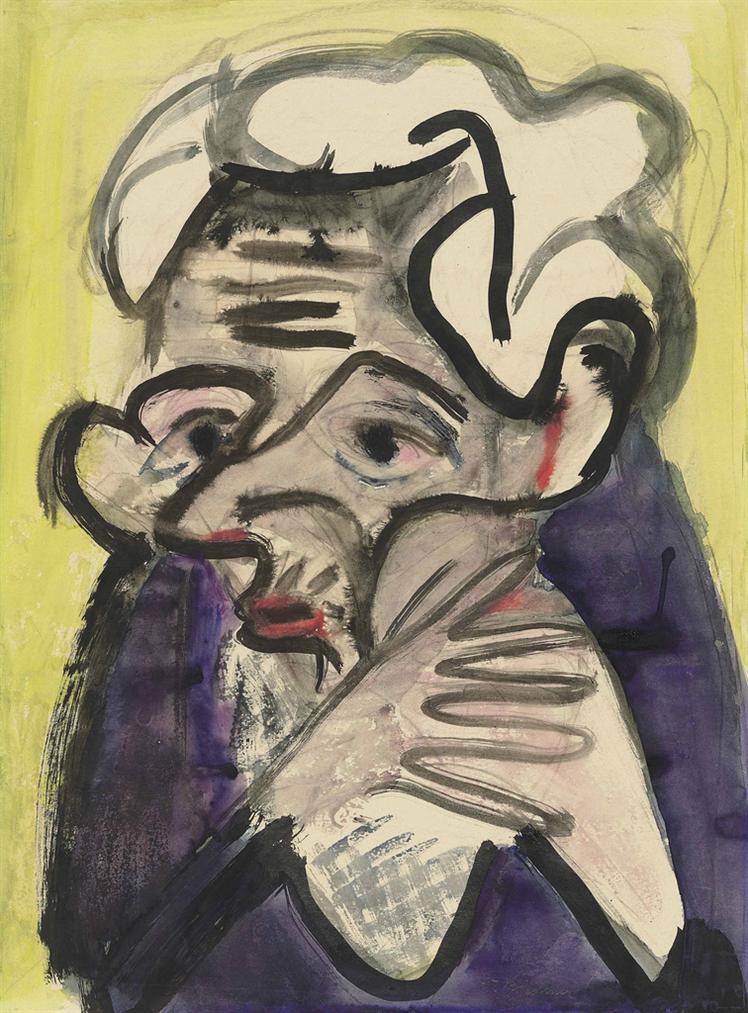 Ernst Ludwig Kirchner-Schweizer Bauerin (Farmers Wife)-1927