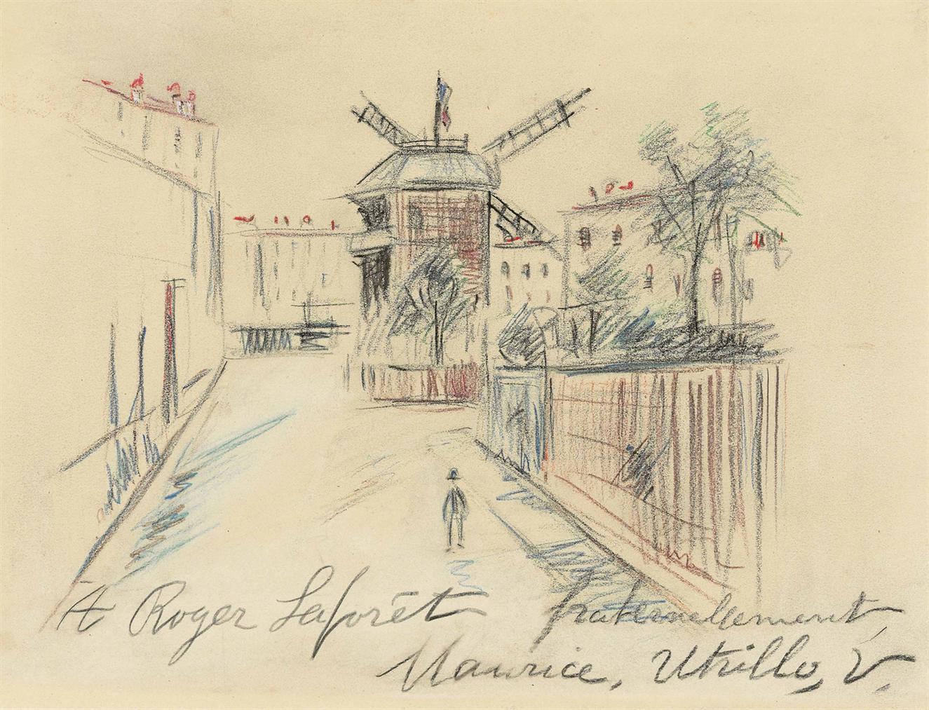 Maurice Utrillo-Moulin De La Galette, Montmartre-1935