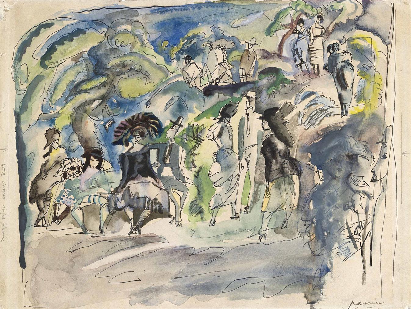 Jules Pascin-Parc A La Havanne-1917