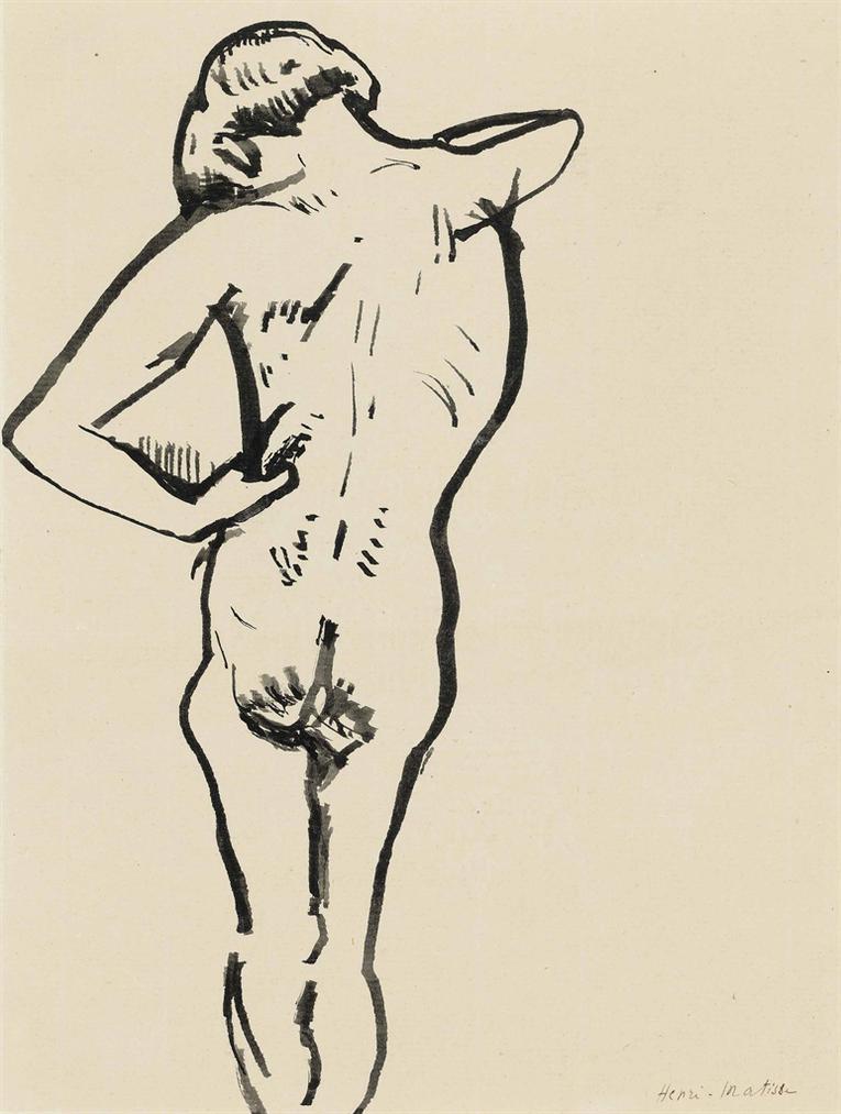 Henri Matisse-Nu De Dos-1907