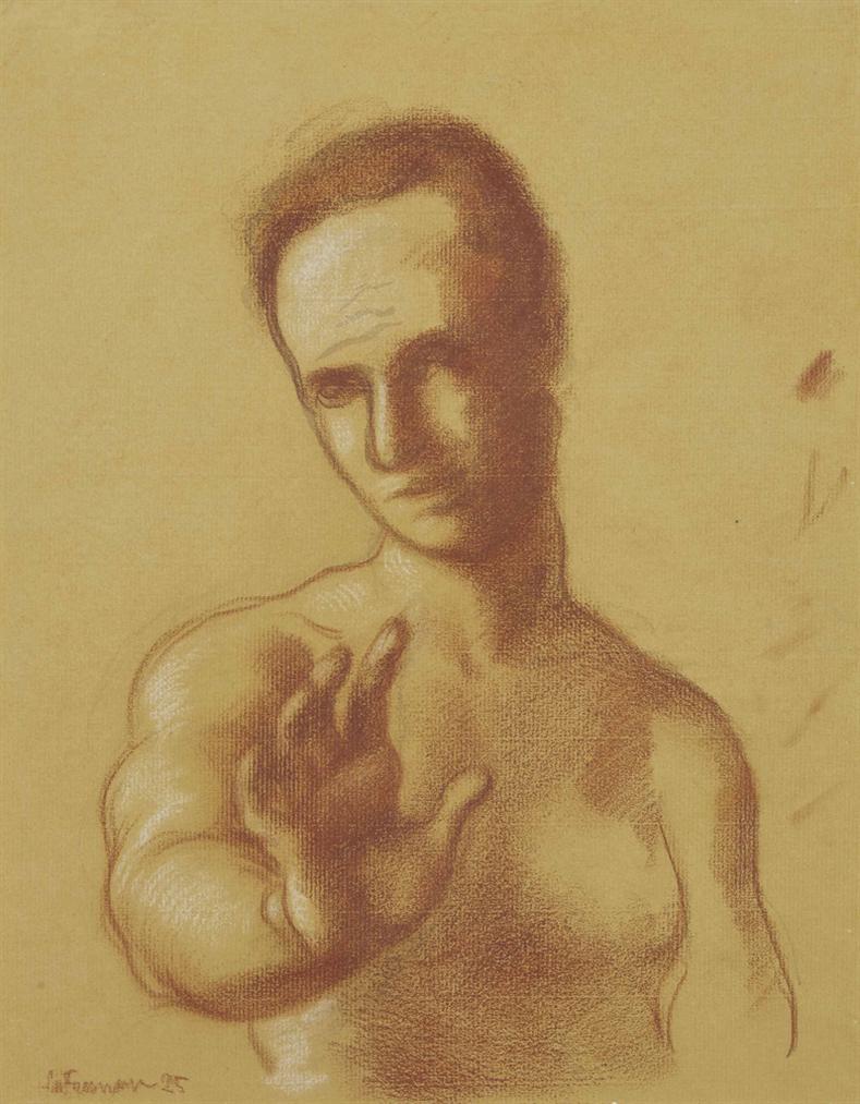 Roger de La Fresnaye-Lhomme Au Bras Tendu-1925