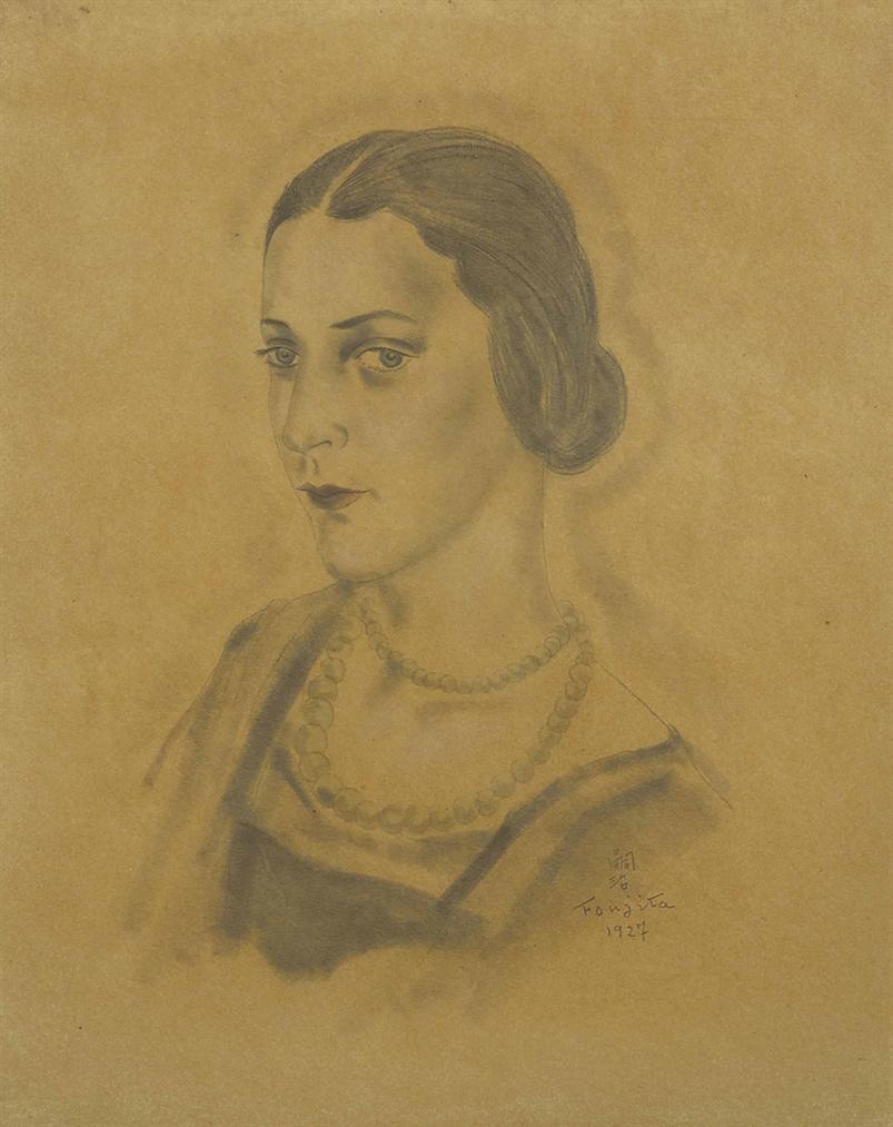 Tsuguharu Foujita-Portrait De Jeune Femme (Nelly Cosmelli)-1927