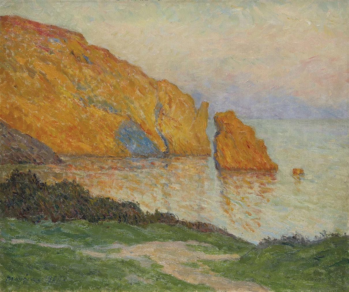 Maxime Maufra-Dernieres Lueurs Du Jours-Morgat-1900