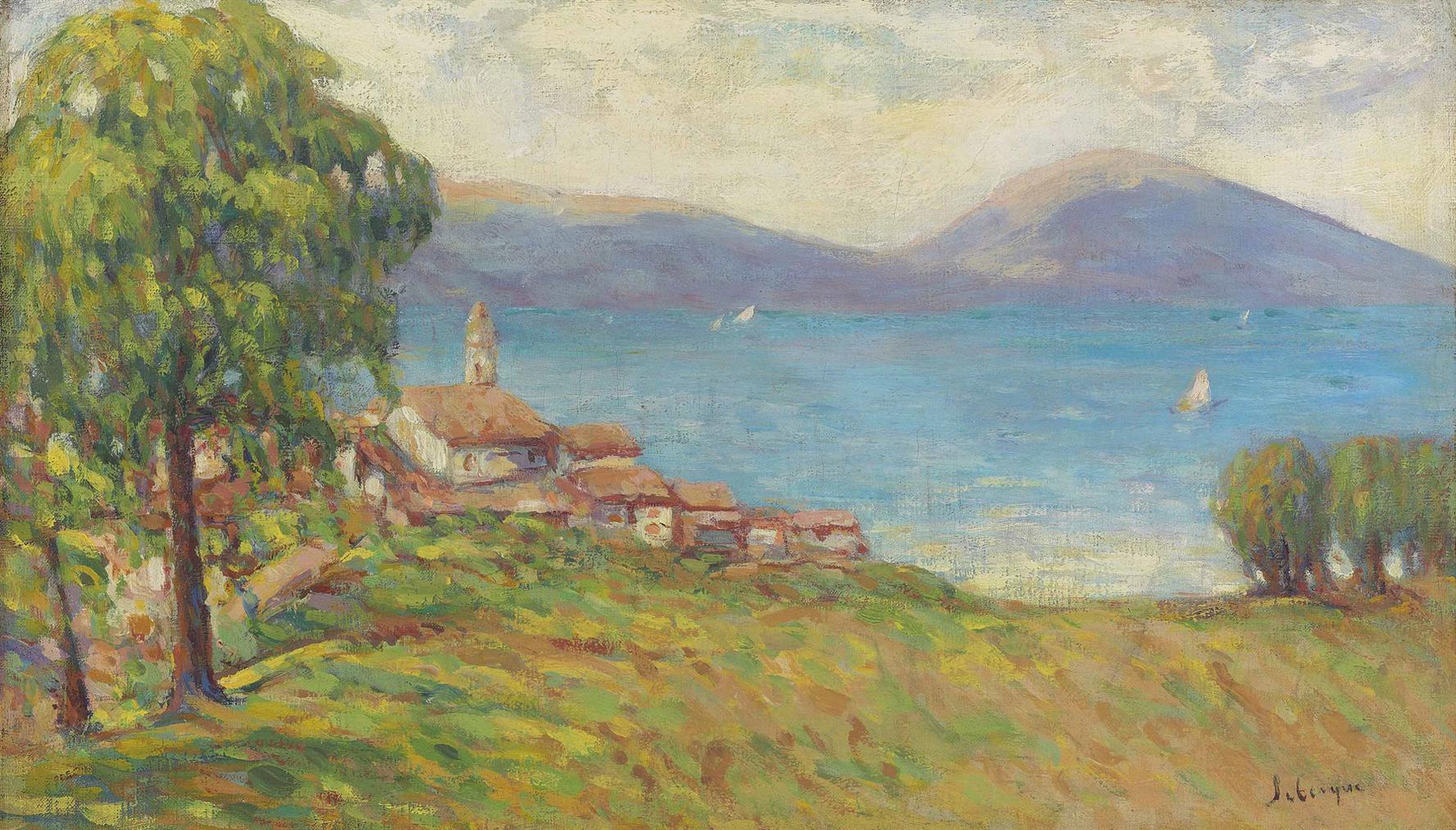 Henri Lebasque-La Mer Pres De Saint-Tropez-