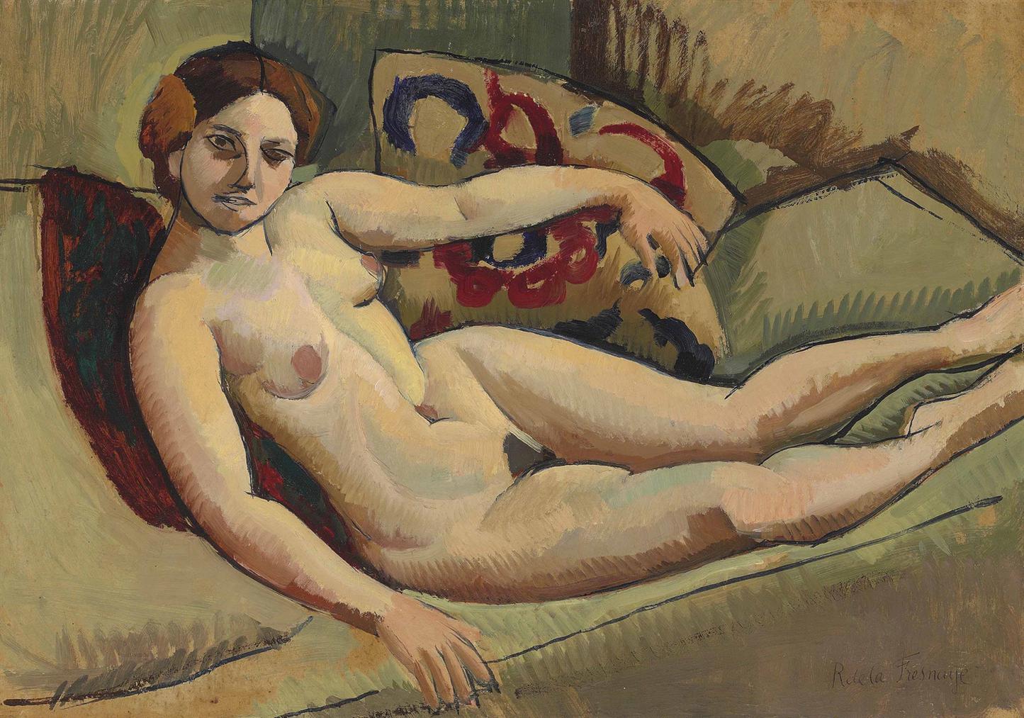 Roger de La Fresnaye-Nu Au Divan-1910