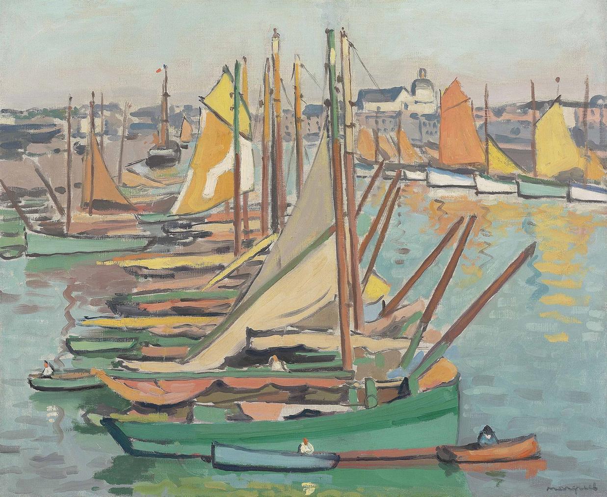 Albert Marquet-Le Port Des Sables-Dolonne-1921