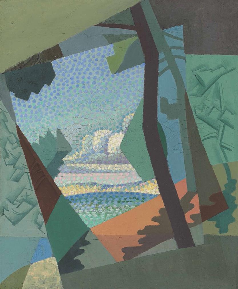 Andre Lhote-Pins A Piquey, Paysage Cubiste-1919